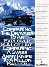 1993 Oldsmobile Bravada - Original Advertisement Print Art Car Ad J220