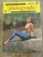 June 1967 Practical Photography magazine -Pretty Lady sunbathing