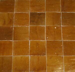 0,2m² marokkanische Zellige Kacheln 10x10cm honig - Mosaik Fliesenspiegel Küche