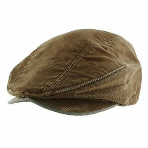 Corduroy Cotton Newsboy Cabbie Hunting Cap Hat Mens Womens Unisex Daily Casual