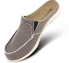 Mens Slippers with Arch Support Canvas House Slipper Slip On Clog House Shoes