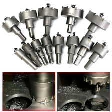 13Pcs/Set Carbide Tip TCT Drill Bit Hole Saw Kit Stainless Steel Metal Alloy New
