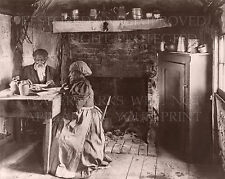 Elderly African American cabin couple eating 1899 photo 5x7 or request 8x10 or..