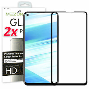 [2 Pack] Full Cover OPPO A72 Premium Tempered Glass 9H HD Protector by MEZON