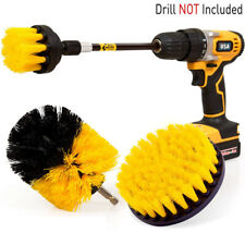 Pack Drill Scrub Brushes Cleaning Extended Long Attachment Power Scrubber Set 4