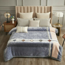 Blanket autumn quilt Bed cover Luxury super warm soft blanket Double layers 4kg