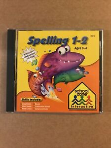 School Zone Interactive SPELLING 1-2 PC CD Ages 6-8 1st 2nd Grade WIN/MAC #08019