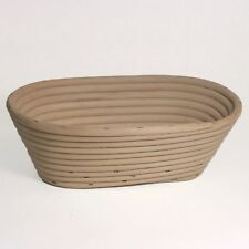 10-inch High Oval Banneton Proofing Basket Form and Shape Bread Dough (Brotform)