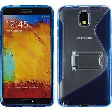 Coque en Silicone Samsung Galaxy Note 3 pied support bleu