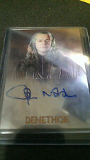 LORD OF THE RINGS CHROME JOHN NOBLE AUTO AUTOGRAPH CARD