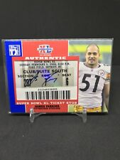 2007 Topps TX Exclusive James Farrior Auto Super Bowl XL Ticket Steelers