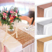 "12"" x 72"" Wedding Table Runner Table Flag Sequins Rectangle Tablecloth Fashion"