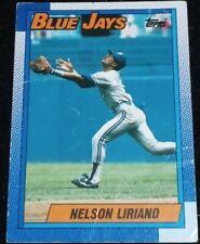 1990 Topps #543 Nelson Liriano 2B Toronto Blue Jays 2nd Base Official MLB Card F
