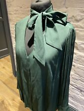 Marks And Spencer Green Pussy Bow Shirt Size 20 BNWT