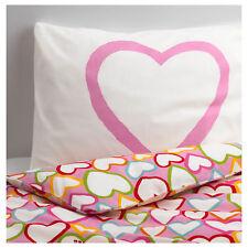 IKEA VITAMINER HJÄRTA Children's Pink-Hearts Single Bedding Set (150x200cm)