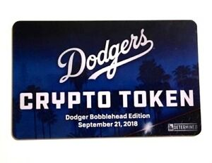 NEW Dodgers Crypto Token MLB Ethereum NFT Bobblehead Turner Kenley Kershaw Card