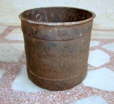 Antique Old Hand Craft Solid Iron Tribal Primitive Kitchen Grain Measurement Pot