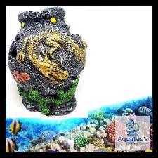 AQUARIUM FISH TANK DRAGON URN DECORATION 13CM ORNAMENT POND AQUA MARINE NANO