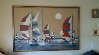 Painting by Letterman.  Length;  5ft. long.  Height ;  3 1/2 ft.