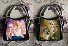 Caszmy 3D Lenticular Fantasy Design Shoulder Bag Handbag Shinny Black PVC Patent