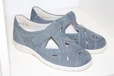 Semler Damen Kinder Slipper Schuh Klettverschluss Leder grau Gr 36 K NEU Schuh19
