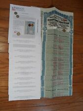 Super-Petchili Bond s, 1913 (Lung-Tsing-U-Hai) Coupons Uncancelled w/ PASS-CO