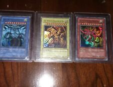 SET GBA SECRET RARE Yu-Gi-Oh! Egyptian God Cards GBI-001 GBI-002 GBI-003