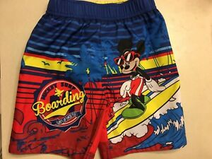 Disney Mickey Mouse Toddlers Swim Trunks Size 4T