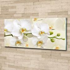 Leinwandbild Kunst-Druck 125x50 Bilder Blumen /& Pflanzen Blaue Orchidee