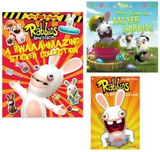 Rabbids Easter, Sticker Collection + Invasion #1 comic, 3 book set, Nintendo