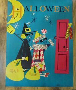 Mid Century Modern Halloween Poster