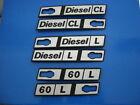Fiat Ritmo 60 L Diesel L CL Targhetta Badge laterale in metallo NUOVA ORIGINALE