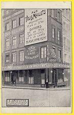 """cpa PARIS CAFÉ RESTAURANT """" AUX TROIS MAILLETS """" 67 Rue St DENIS Commerce Trade"""