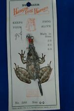 New listing Vintage Pflueger Hanson Frog Harness On Card No.2055. Size 6-0 Mint ! !