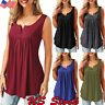 Womens Sexy Hippie Tank Top Summer Vest Sleeveless T shirt Loose Casual Blouses