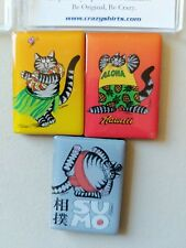 B. Kliban Art Collection Magnets ~ 3-Piece Cat Magnets ~ New in case