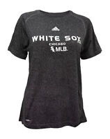 Adidas Chicago White Sox Charcoal Black Women's Performance Climalite T-Shirt