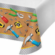 Handyman Builder Tools Birthday Party Supplies Decorations Tablecover Tablecloth