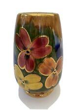 More details for vintage oldcourt ware handpainted 5 inch  lustre vase.
