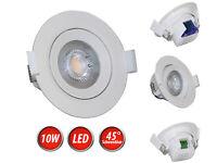 LED 10W Einbaustrahler 45° Schwenkbar Ø120mm Einbauleuchte Spot Deckenstrahler