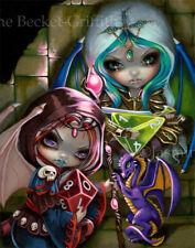 Jasmine Becket-Griffith art print SIGNED Dice Dragonlings d20 d4 D&D fairies