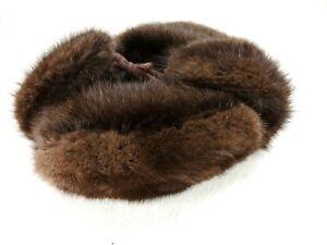 Vintage 1982 Genuine Beaver Fur Russian Trapper Hat - S - Healthy Fur