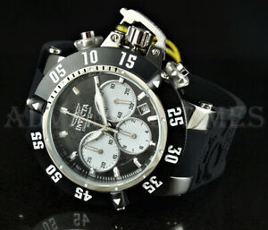 Invicta 50mm Subaqua Noma III Chronograph Black & White Silicone Strap Watch