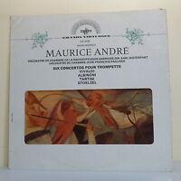 """33T Maurice ANDRE Disque LP 12"""" SIX CONCERTOS TROMPETTE Chambre J-F PAILLARD"""