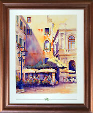 Italian Theatre Vintage Wall Decor Mahogany Framed Picture Art Print (18x22)