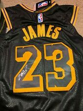 Lebron James beautifully autographed Los Angeles Lakers Jersey