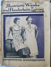 Illustrierte Wäsche- und Handarbeits-Zeitung Heft 6 von 1934 mit Schnittmuster