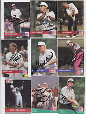 1992 PRO SET SIGNED PGA GOLF CARD BRAD FAXON BRITISH OPEN 8 TIME WINNER # 113