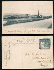 ISLE of MAN 1903 PPC TYNWALD HILL + ST JOHNS + PEEL SQUARED CIRCLE POSTMARK
