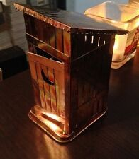 Vintage Brass OutHouse Wind Up Music Box with Mech Door Little Boy Going Pee Pee